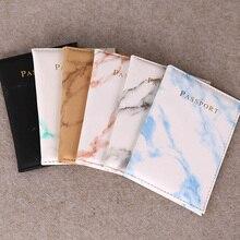 กระเป๋าเดินทางกรณีผู้ถือหนังสือเดินทางMarbleที่มีสีสันสไตล์หนังสือเดินทางกันน้ำผู้ถือหนัง...