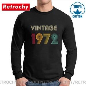 Fashion Long Sleeve Tshirt Vintage 1972 T Shirt 47th Birthday Gift T-Shirt 47th Birthday for Women and man Wife Husband Dad Tees