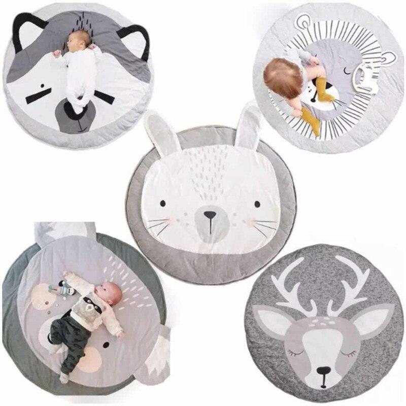 YOOAP детские игровые коврики для новорожденных, Детские хлопковые мягкие принты животных из мультфильмов, детские игровые коврики для полза...