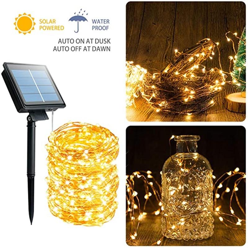 50/100/200/300 LED Solar Light Outdoors garden Waterproof Fairy Lights Garland Christmas Party Solar Lamp Decoration Battery