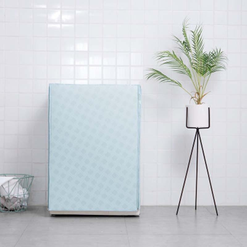 Color sólido automático rodillo lavadora de protección solar lavadora impermeable cubierta a prueba de polvo lavadora cubierta 1 pieza