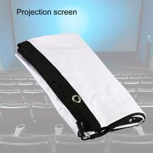 Bluelans H150C Projector Screen Simple Foldable Design Portable Polyester 150 Inch 16:9 Thick Projec