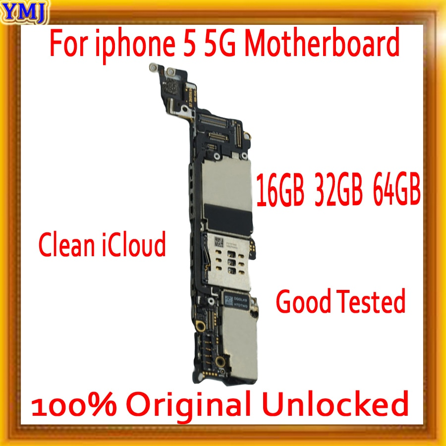 Factory unlocked for iphone 5 Motherboard with Free iCloud,100% Original for iphone 5 5g Mainboard with IOS System,Free Shipping