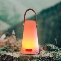 outdoor waterproof illuminated portable rgb led mood lighting lantern lights camping lamp remote control night light with handle