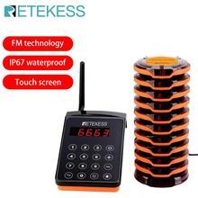 RETEKESS TD156 FM Restaurant téléavertisseur sans fil système dappel serveur téléavertisseurs pour Restaurant café-Restaurant clinique équipement de file dattente