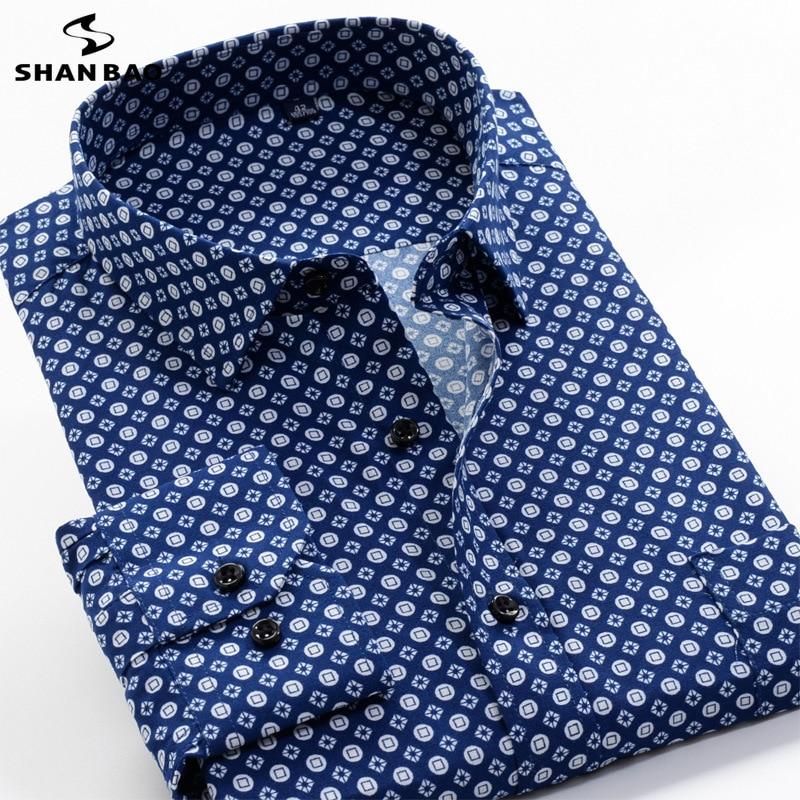 6XL 7XL 8XL 9XL 10XL حجم كبير زهرة طباعة الرجال الموضة عادية كم طويل قميص 2021 ربيع جديد الشباب العلامة التجارية قميص 24 ألوان