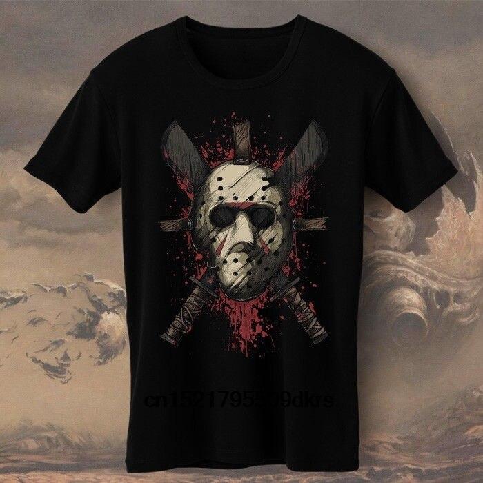 Camiseta clásica para hombre Jason Jasonator Terminator Voorhees Horror Machete, camiseta de novedad para mujer