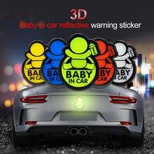 Autocollant de chariot de bébé en voiture   Étiquette davertissement, bande réfléchissante, étiquette de sécurité, bandes autocollantes extérieures