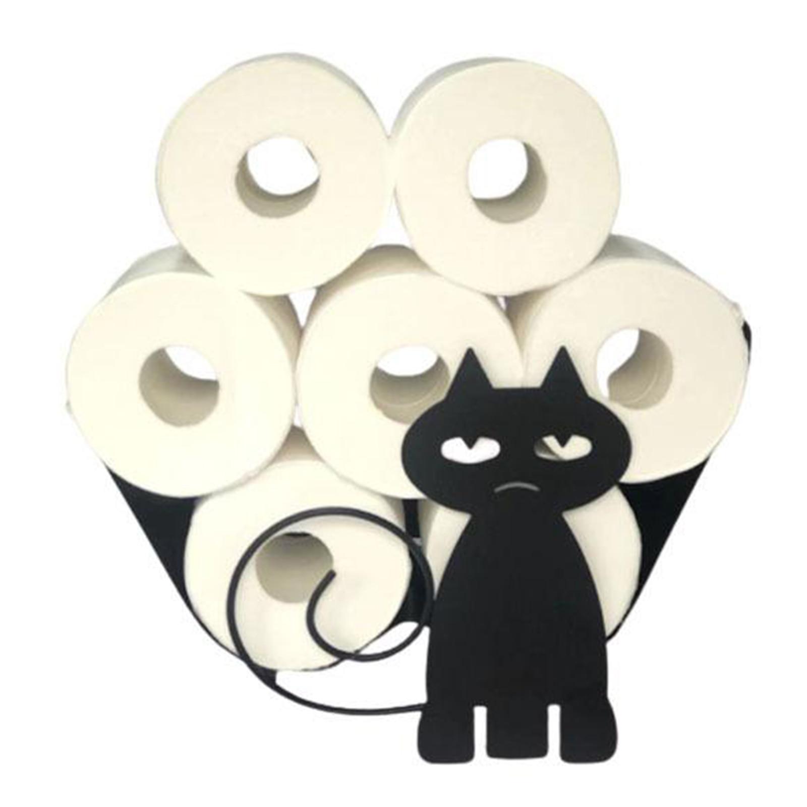 AliExpress - Toilet Roll Paper Holder Towel Iron Cat Storage Rack Novelty Toilet Tissue Holders Bathroom Paper Storage Powder Organization