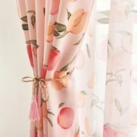 nordic curtains for living dining room bedroom american pastoral peach curtains finished fresh semi shading curtains custom