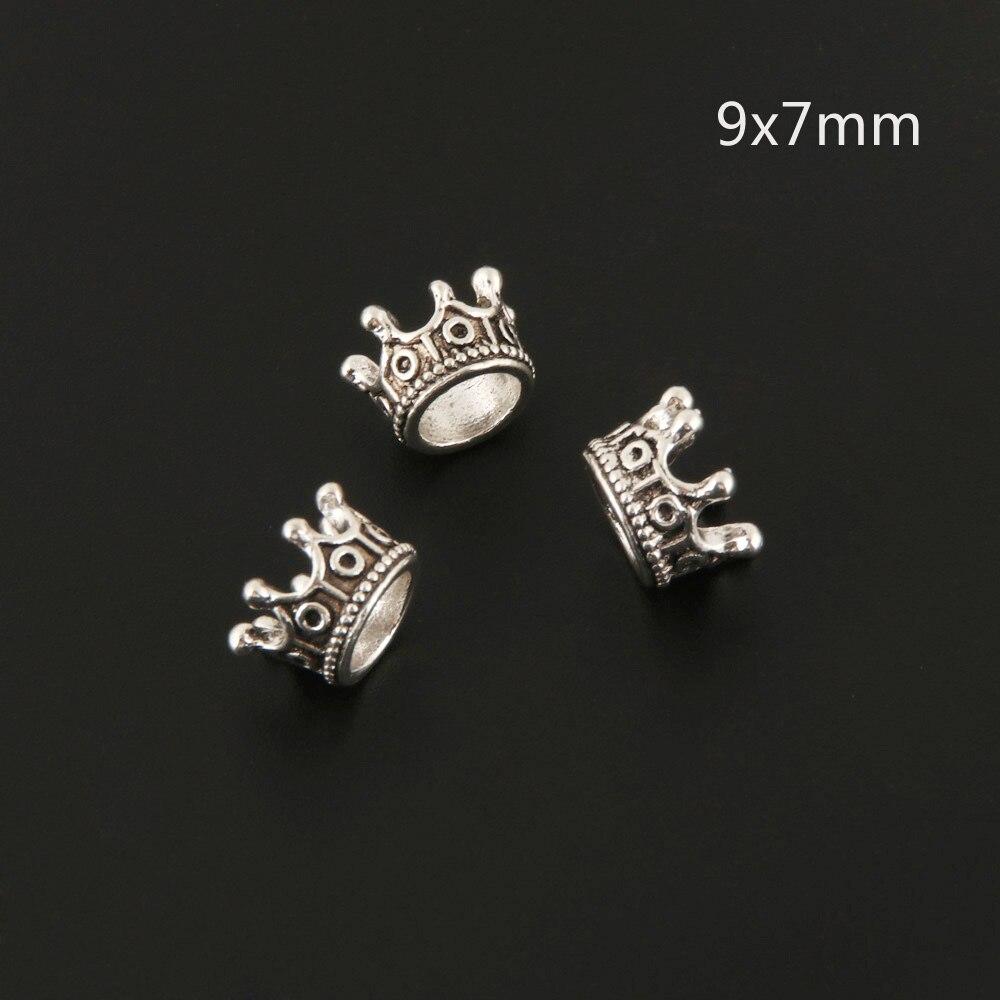 10pcs  Silver Color Alloy Mini 3D Crown Charms Jewelry Pendant Charms DIY For Bracelet Necklace