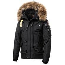 2019 inverno novo vintage casual gola de pele com capuz parkas jaqueta estilo masculino ao ar livre grosso quente à prova doutágua outwear zíper parkas