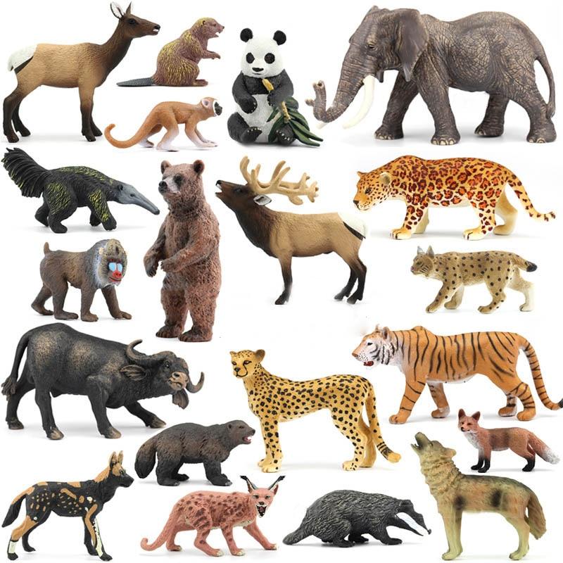 Original echten wilden zoo farm Afrikanische Savanne Landschaftssegeltuch-wand-kunst-afrikanische lion tier könig vogel serie leopard katze panther Jaguar modell spielzeug kinder geschenk