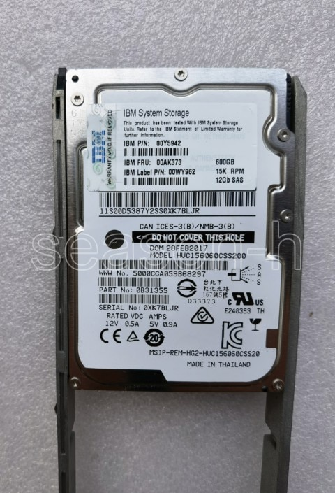 IBM 00AK373 AC61 00NC647 V5000 الصلب dirive 600GB 15K 12Gb SAS 2.5 HDD
