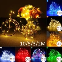 10m5m3m2m copper wire string lights battery string led garland lamp party christmas holiday wedding party home decor