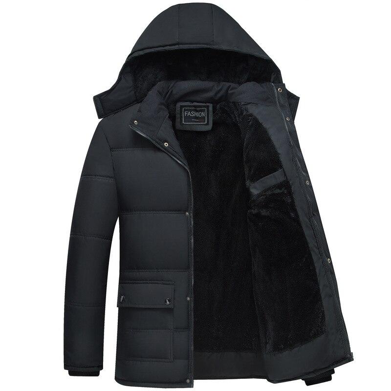 Зимнее пальто для мужчин, модные мужские парки, Толстая теплая парка с капюшоном, зимняя ветрозащитная Мужская куртка, парка