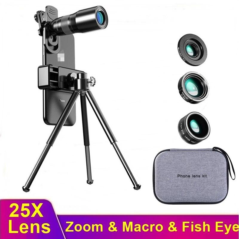 Tongdaytech-lente de cámara HD 25X para teléfono móvil, lente telescópica con Zoom...