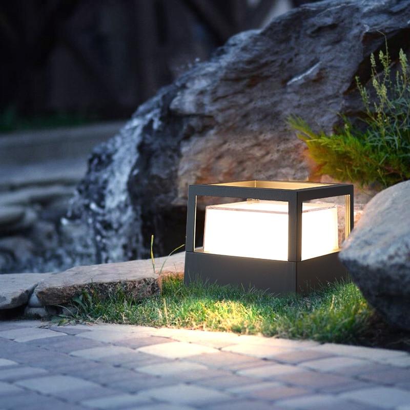 Modern outdoor garden wall lamp, 5W waterproof wall lamp, cable head, courtyard road lighting. enlarge