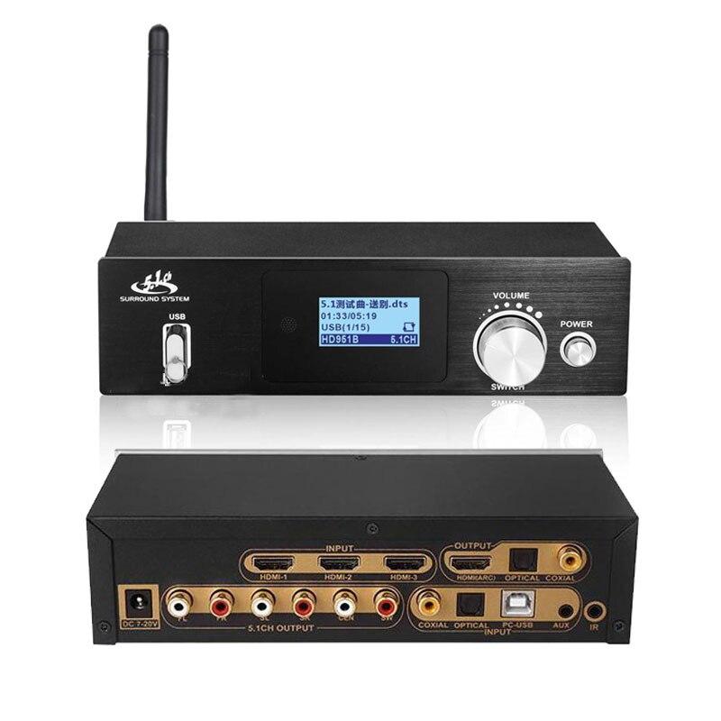 4K * 2K Bluetooth DAC HDMI zu HDMI Extractor Konverter Digital SPDIF HDMI DTS 5,1 Audio Decoder HDMI ARC Audio Converter Getriebe