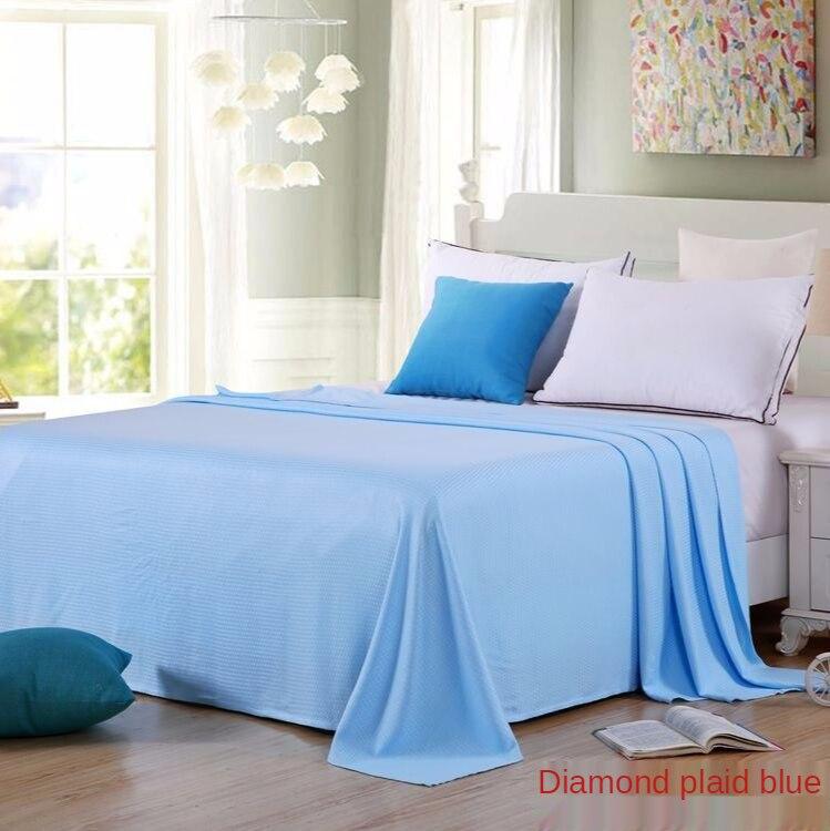 الطبيعية منشفة مصنوعة من ألياف الخيزران غطاء لحاف واحد غطاء سرير مزدوج تكييف الهواء لحاف الصيف لحاف بارد الجليد الحرير بطانية