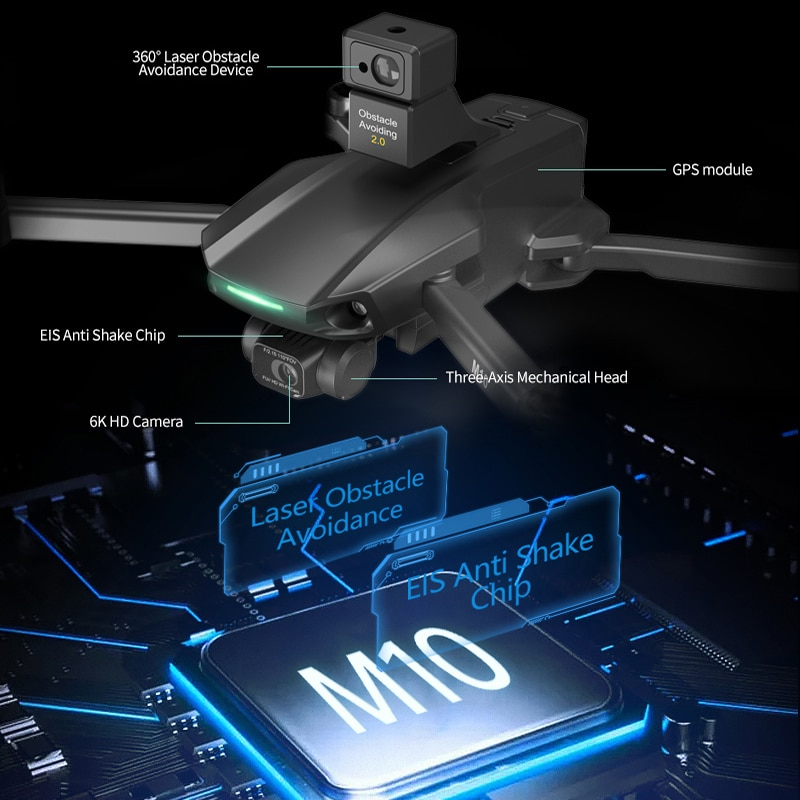NEW M9/M10 MAX drone 8k gps 5g wifi 3 axis gimbal camera brushless motor TF card rc distance 1.2km rc Quadcopter professional ca enlarge