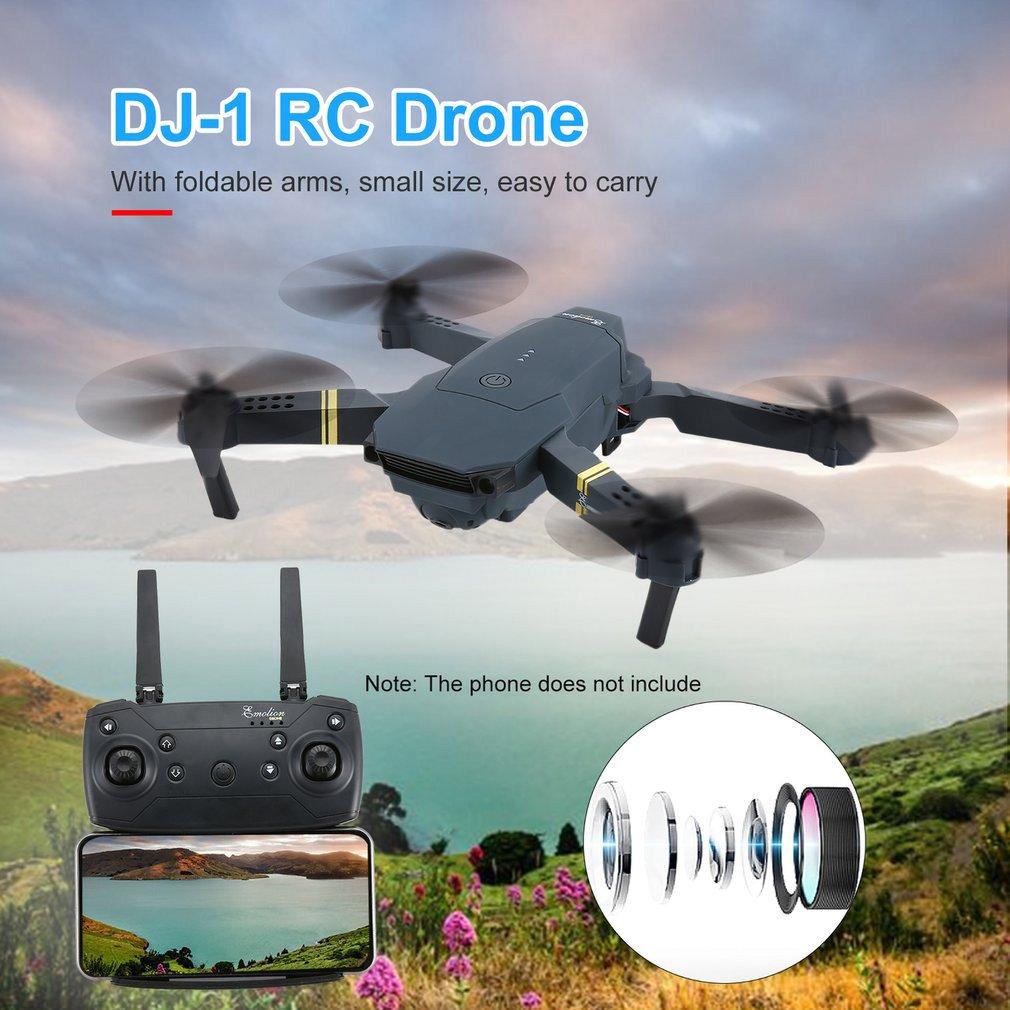 Dj-1 2.4 ghz wifi fpv zangão dobrável rc com ângulo largo 2.0mp hd câmera altitude hold modo headless aeronaves com 2 bateria