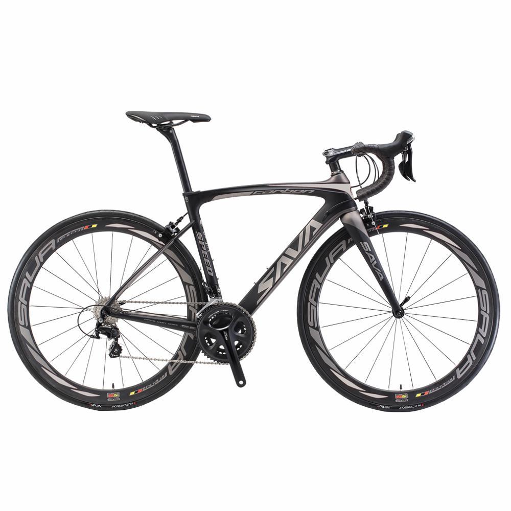 Bicicleta de estrada de corrida de carbono bicicleta de estrada de fibra de carbono completo 700c adulto bicicleta com 105 r7000 22 velocidade de corrida de carbono