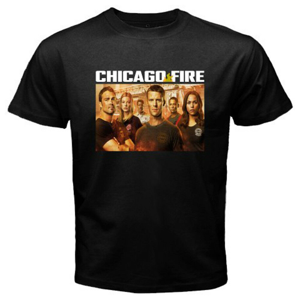Nuevo Chicago Fire TV Show camiseta negra para hombre talla S a 3XL