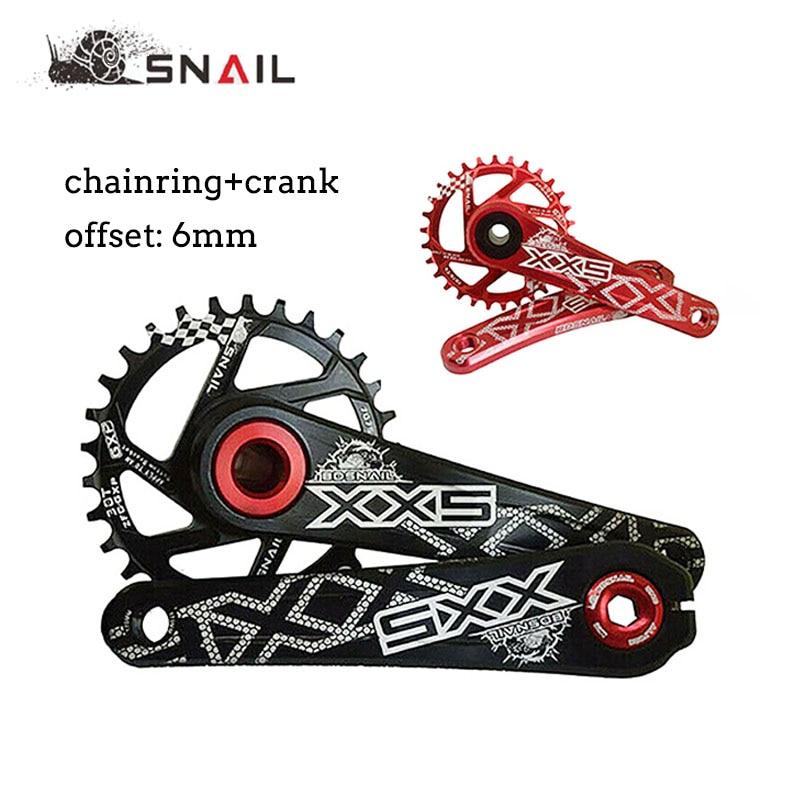 Platos y bielas de bicicleta de montaña Offset 6mm estrecho ancho 30-34T Chainring 170mm bicicleta de carretera de montaña manivela 8-11S para GXP XX1 X9 XO X01 manivela