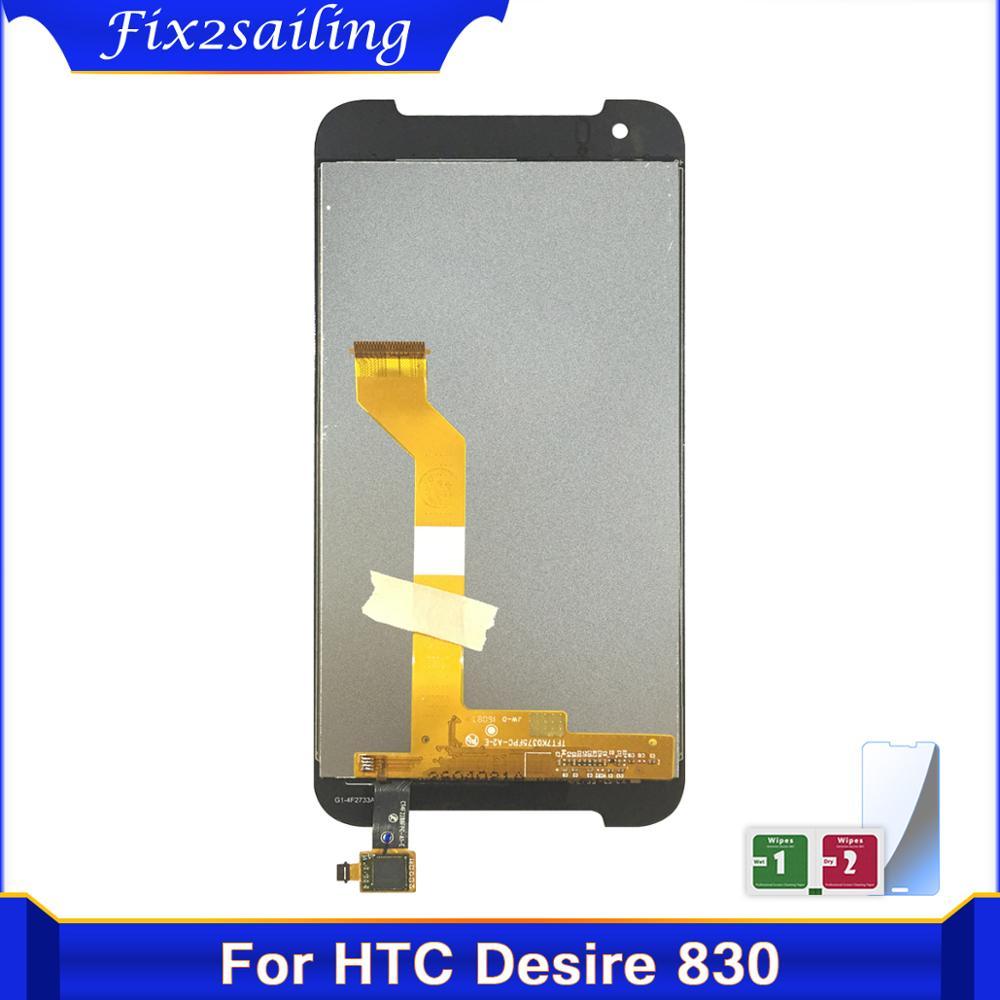 100% pantalla de visualización probada para HTC Desire 830 pantalla LCD + MONTAJE DE digitalizador con pantalla táctil digitalizador piezas de repuesto LCDS