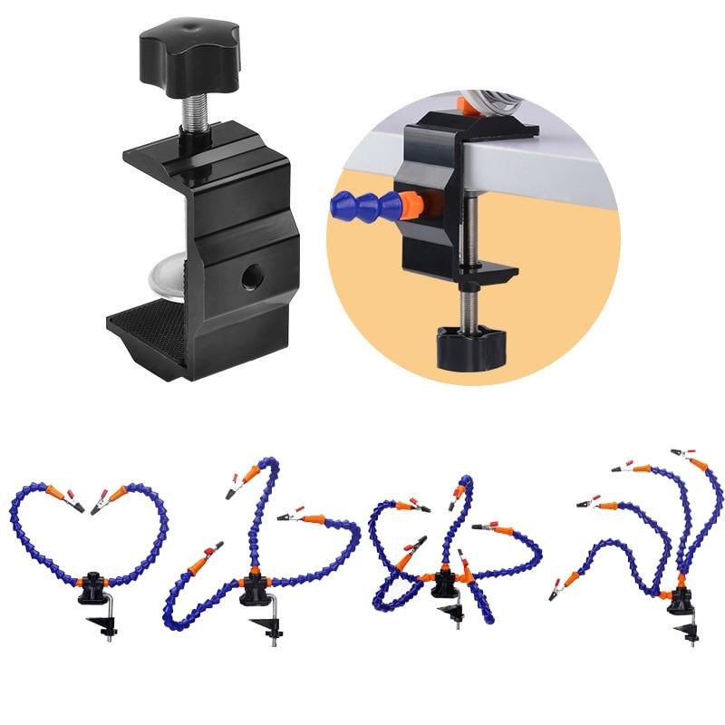 4 piezas de brazos flexibles de soldadura de hierro titular de tercera mano de soldadura PCB titular de soldadura herramienta de soldadura Flexible Reparación de estación de soldadura