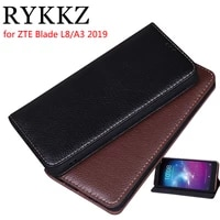 rykkz luxury leather flip cover for zte blade l8a3 2019 mobile stand case for zte blade l8a3 2019 leather phone case cover