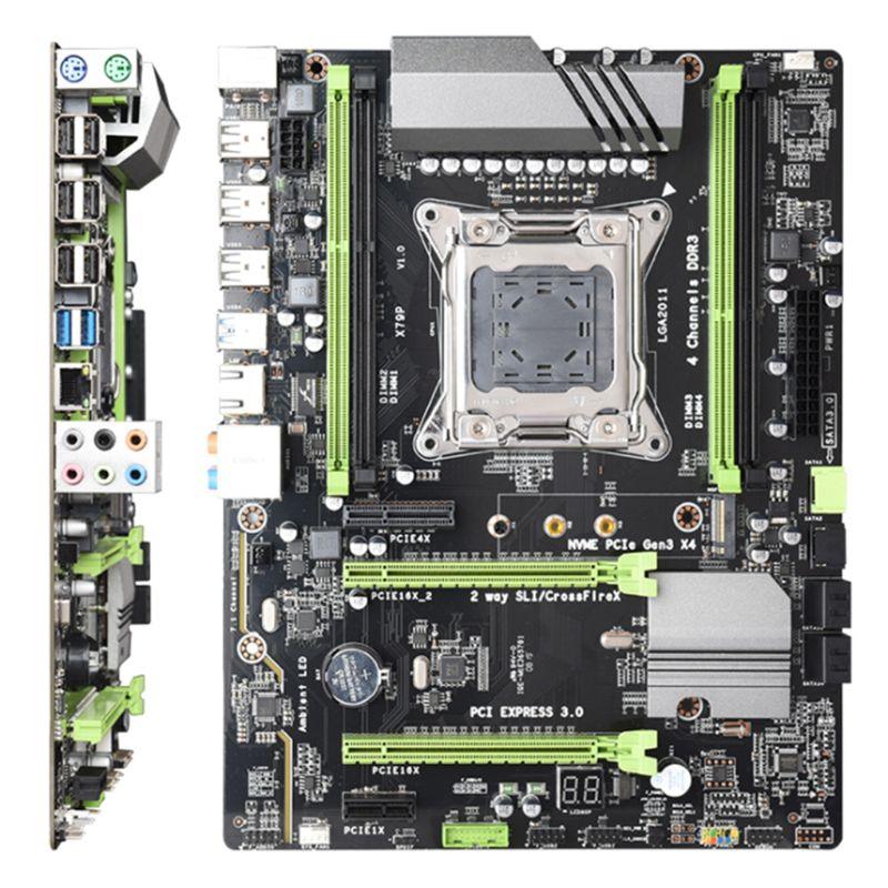 X79T DDR3 PC USB 2.0 carte mère LGA 2011 CPU ordinateur de jeu Support M.2 E5-2680V2 i7 SATA 3.0 USB 3.0 pour intel B75 M2EC