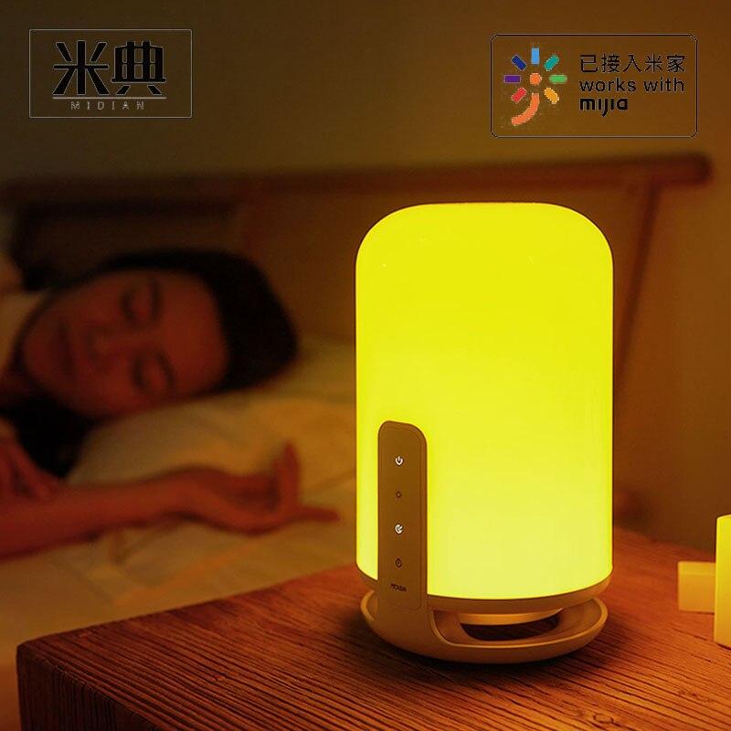 MIDIAN-مصباح سرير ذكي ، مفتاح تحكم باللمس ، يعمل مع تطبيق Mi Home ، لمبة LED ، مؤقت ، ضوء ليلي ، مصباح مكتبي لغرفة النوم