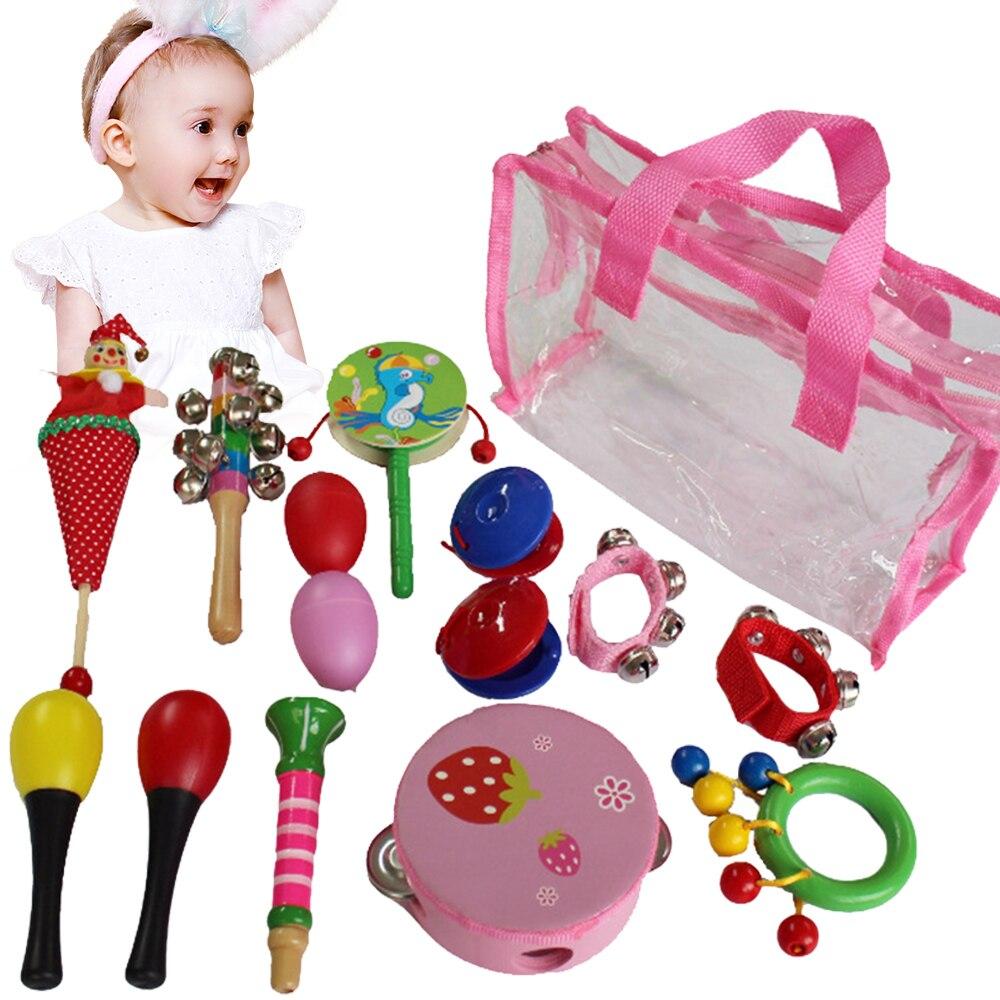 Музыкальные игрушки для малышей, музыкальные игрушки, колокольчики для кровати, песочный молоток, свисток, музыкальный инструмент, цветные ...