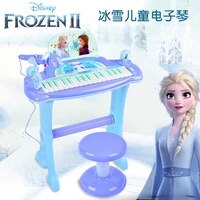 disney frozen 2 childrens electronic piano toy girl beginner musical instrument electronic piano microphone
