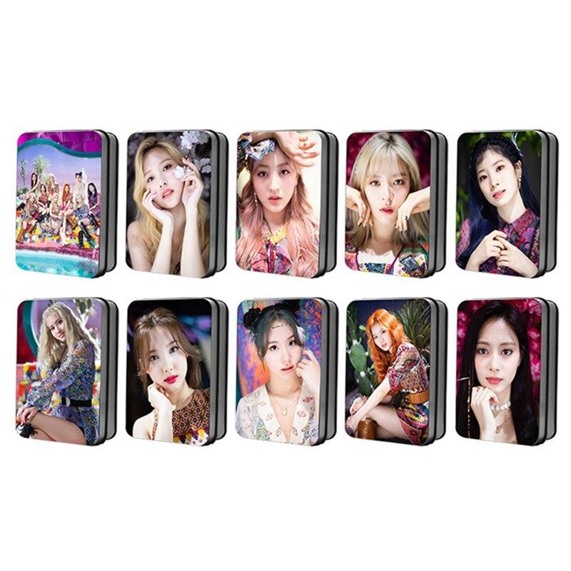 30 pçs/set kpop duas vezes novo álbum mais & mais lomo cartões auto feito papel photocard