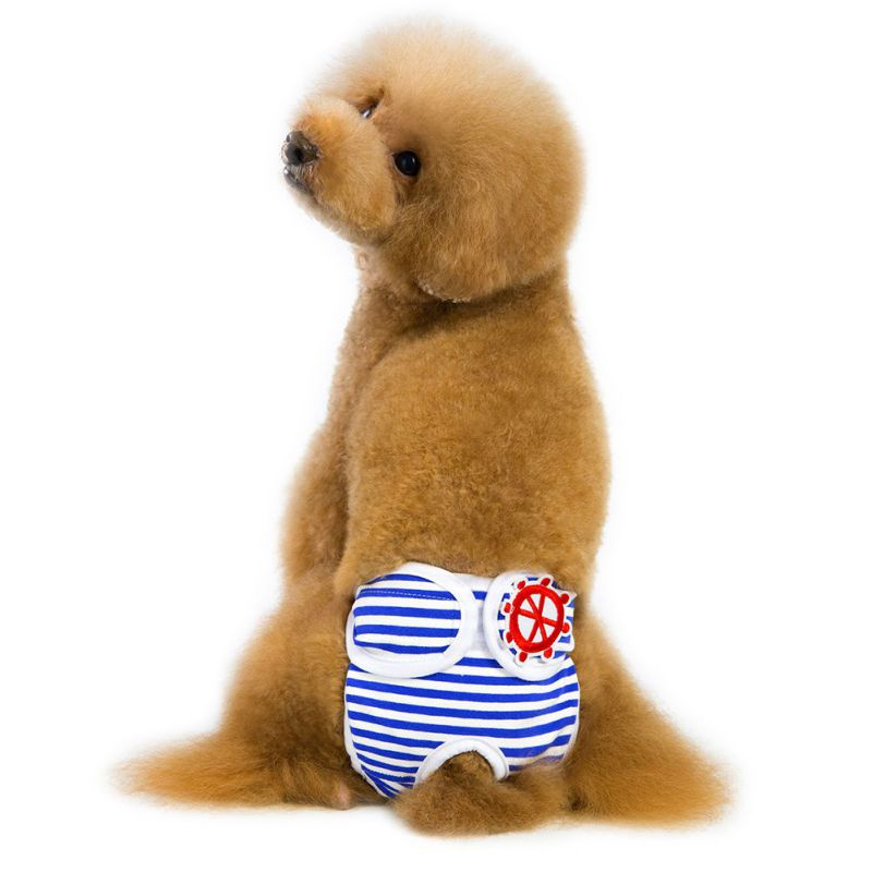 Perro rayas pantalones fisiológicos para perros femeninos mascotas menstruación pantalones cortos mascota