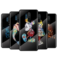 Tempered Glass Cover Luxury Shell Disney Princess Marvel For Oneplus 9R 9 8T 8 Nord Z 7T 7 Pro 5G Sh