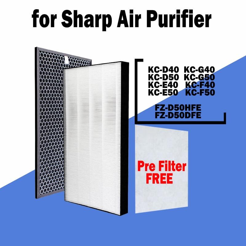 hepa фильтр sharp fz f30hfe для kc f31r HEPA Carbon Filter FZ-D50HFE FZ-D50DFE for SHARP KC-D40 KC-G40 KC-D50 KC-G50 KC-E40 KC-F40 KC-E50 KC-F50 Air Purifier