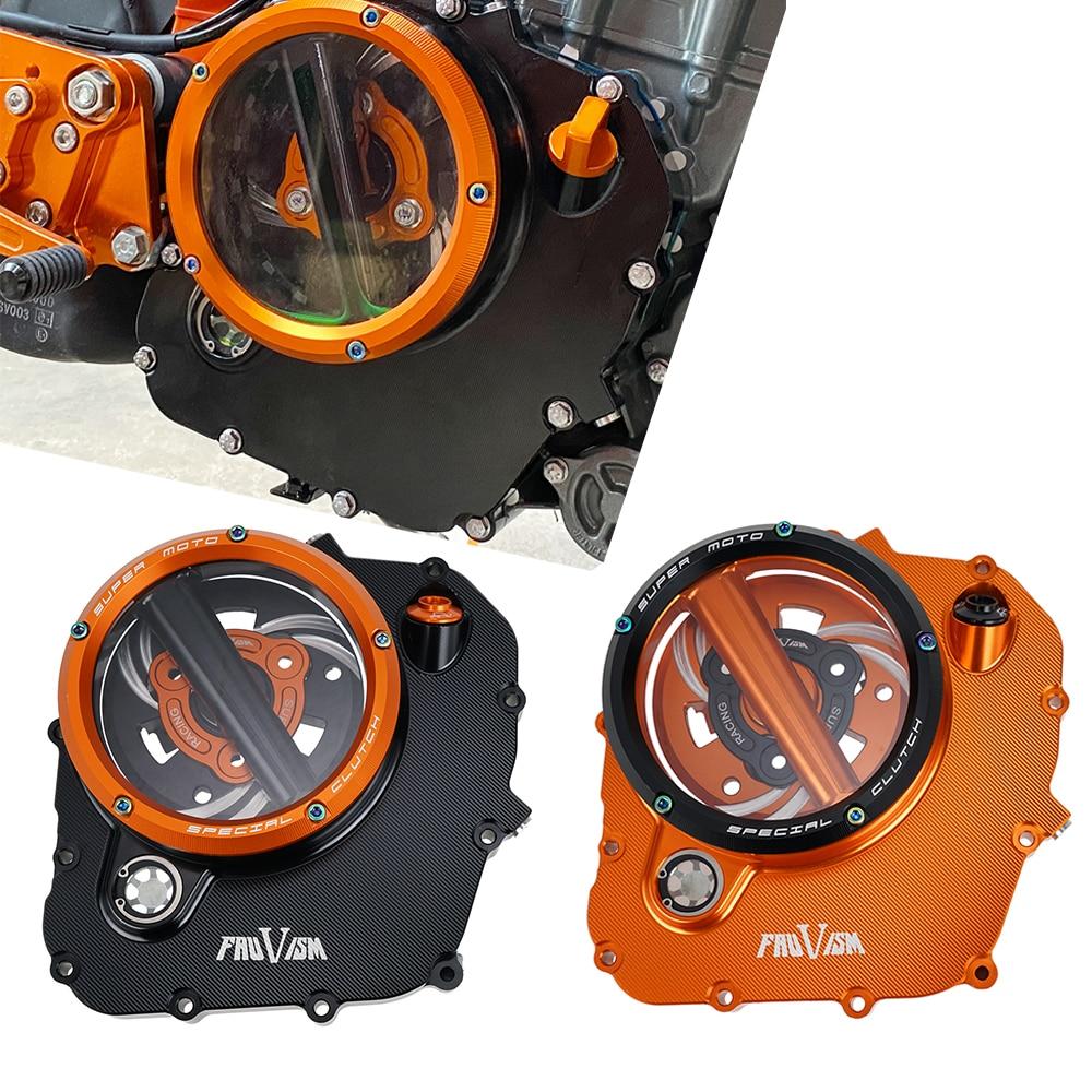 نك محرك دراجة نارية غطاء القابض عدة واضح غطاء حماية حامي ل KTM Duke 390 390Duke RC390 RC 390 2018-2020 2019