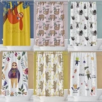 animal print sloth shower curtain waterproof bathroom curtains accessories set with hooks for bathroom decor bath for kids