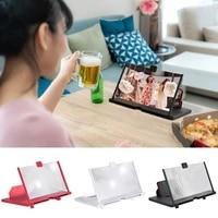 3d mobile phone screen magnifier hd video amplifier stand folding phone holder amplifier smartphone stand enlargefoldable holder