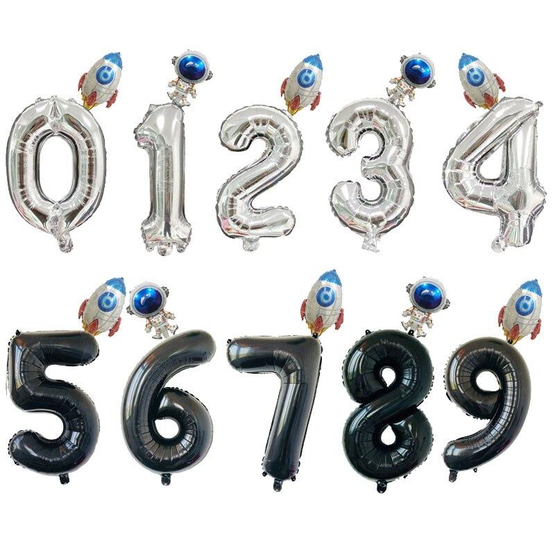 Воздушные шары космонавта, воздушные шары из фольги в виде ракеты, астронавта, украшение для вечерние, дня рождения, вечеринки, украшения дл...