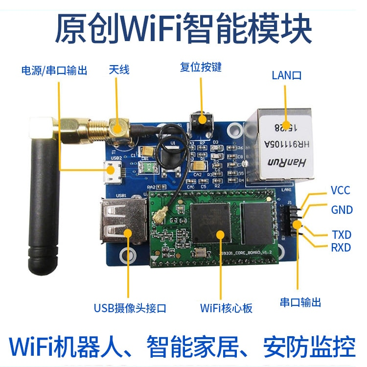 وحدة نقل الفيديو اللاسلكية للسيارة ، شبكة Wifi مع منفذ تسلسلي ، AR9331 ، Openwrt