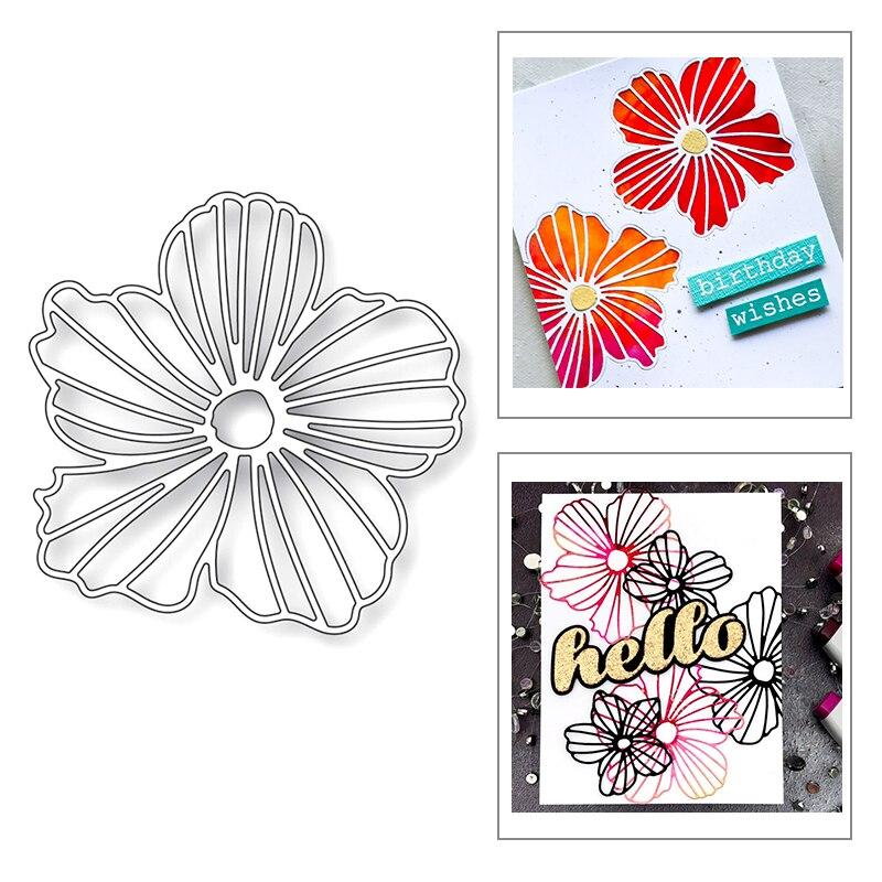 2020 Nueva Planta flores textura relieve Fondo Metal corte troqueles para hacer DIY tarjeta de felicitación papel recortes sin sellos