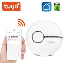 Tuya Smart Draadloze Alarmsysteem Rookmelder Smart Leven App Standalone Wifi Rook Temperatuur Detector Sensor Wifi