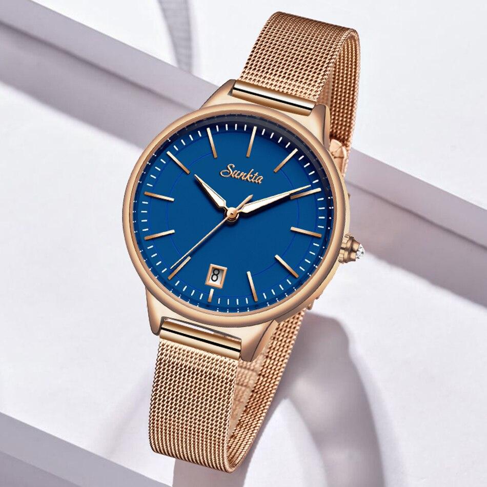 2021 SUNKTA Rose Gold Watch Women Quartz Watches Ladies Top Brand Crystal Luxury Female Wrist Watch Girl Clock Relogio Feminino enlarge