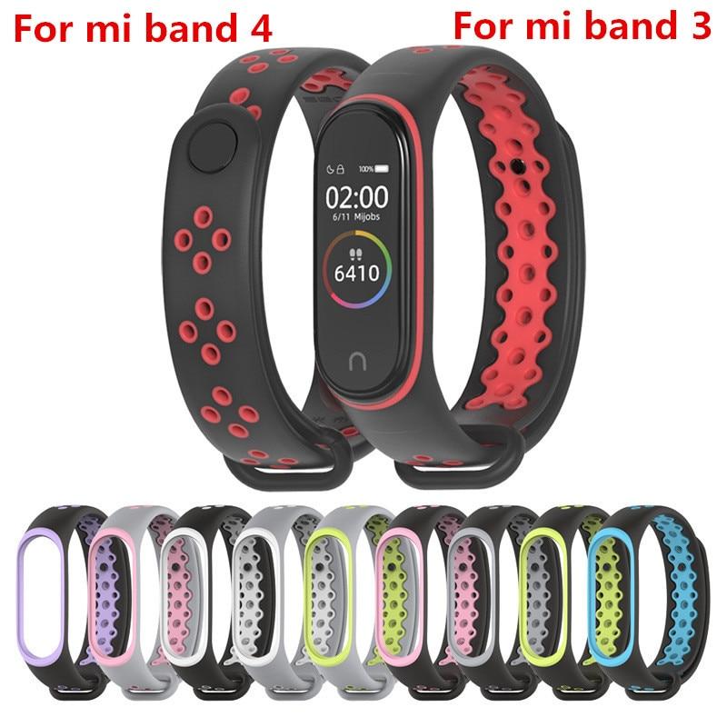 Mi Band 4 Strap Sport wrist strap for Xiaomi mi band 3  black Silicone Bracelet for band3 xiaomi Mi band 4  smart watch bracelet