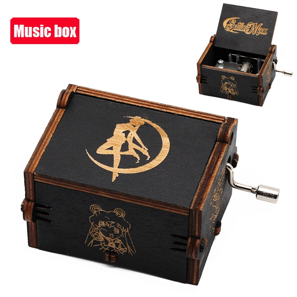 NEW Music Box QUEEN Lots Of Styles LOVE MOM DAD Digimon Sailor Moon Wooden Hand Christmas Birthday V